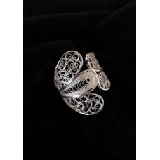 Patinated filigree ring