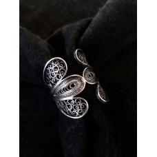 Big patinated filigree ring