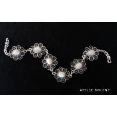 Flower filigree bracelet