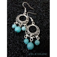 Aquamarine earrings 1