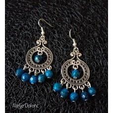 Azurite chrysocola earrings