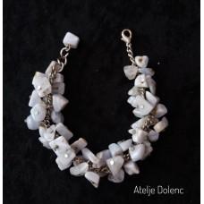 Blurry moon stone bracelet